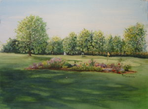 'Made in the Shade' Watercolor of Vandalia Country Club